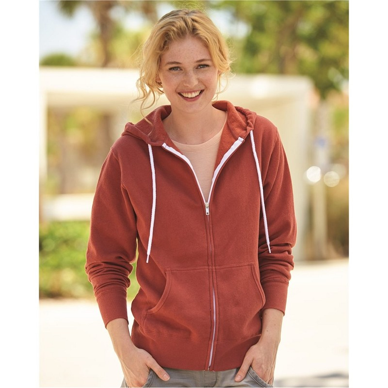 Independent Trading Co.® Unisex Lightweight Full-Zip Hooded Sweatshirt