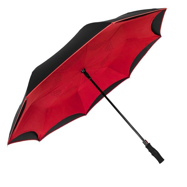 Inversa® auto-open Umbrella & reverse closing keeps you dry